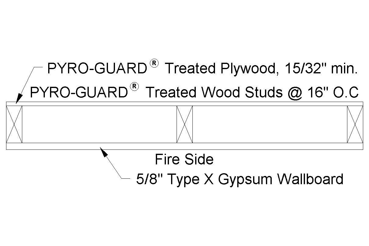 1 Hour FR Rated Exterior Wall Assembly (Interior Side Only) .dcd .dwg .dxf  . ...